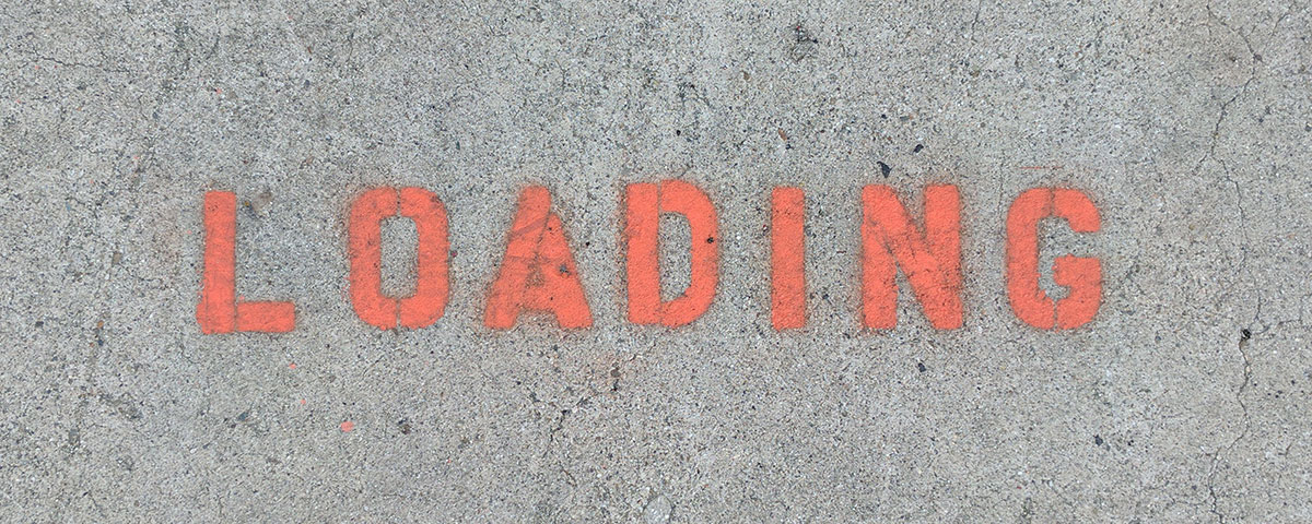 loading parking orange letters