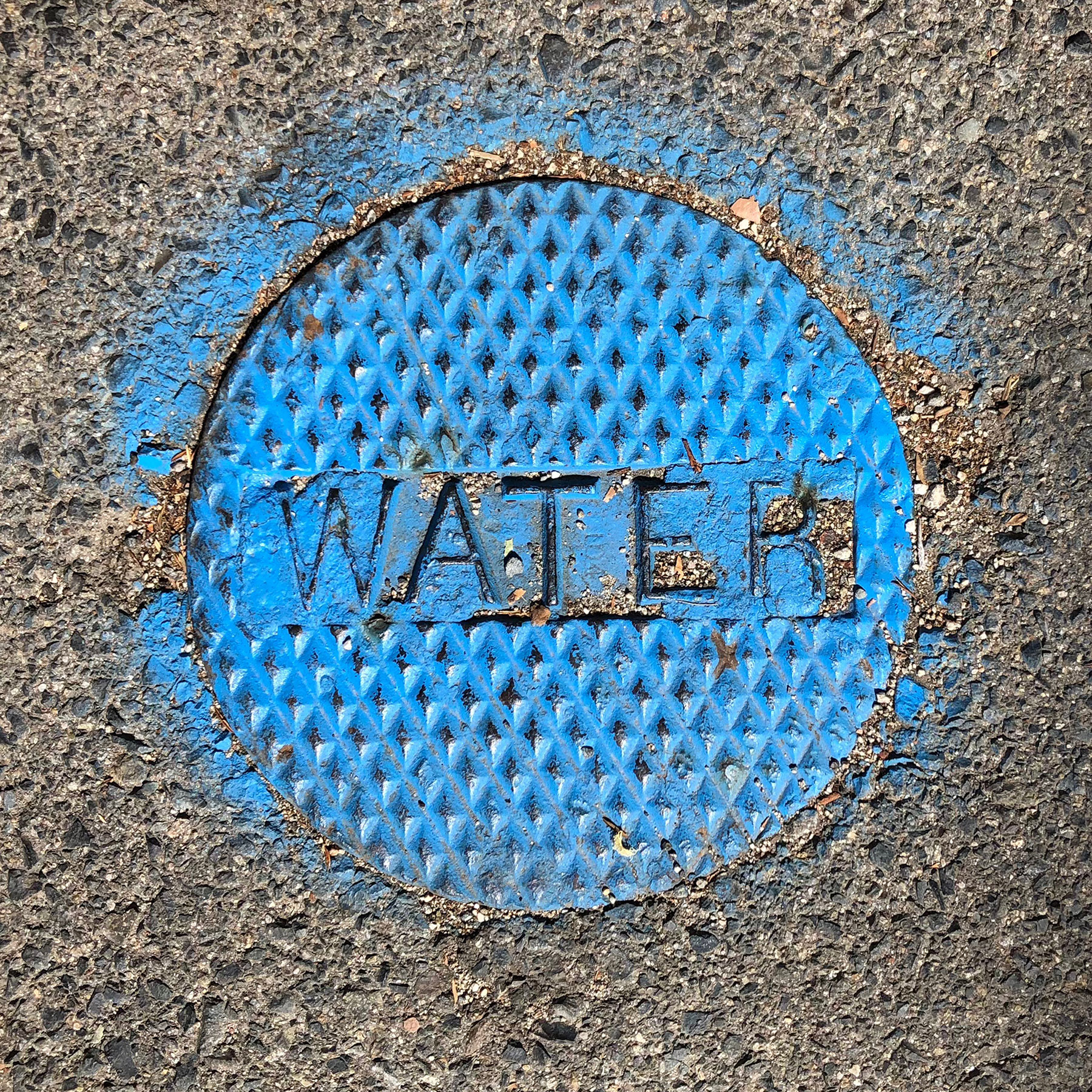 Blue water utility cover
