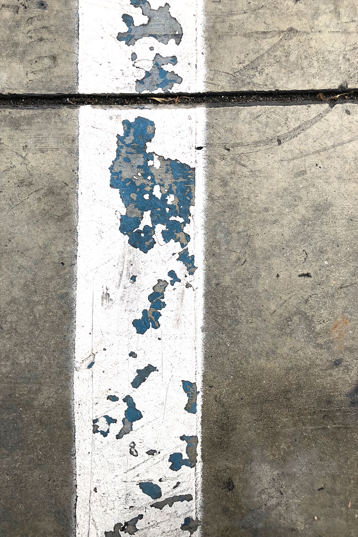 White over blue stripe